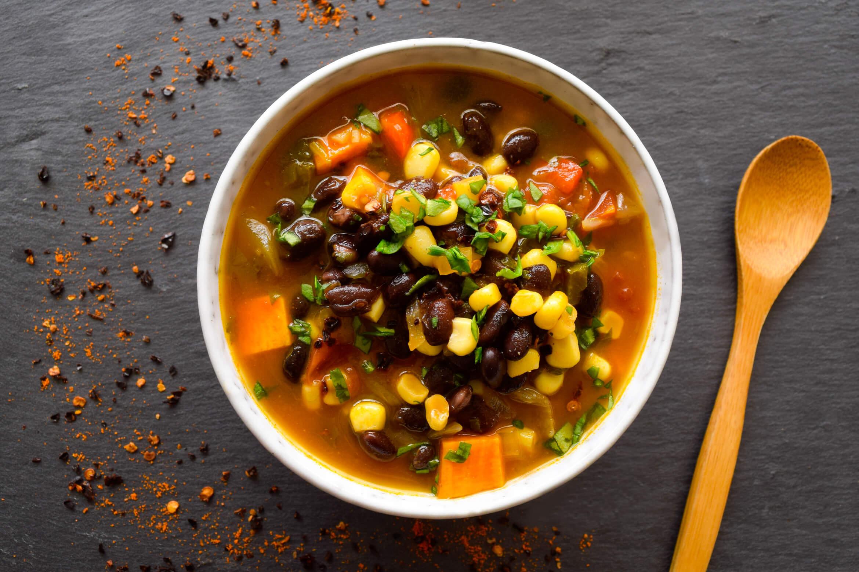 Sweet n' Spicy Black Bean Corn Chili