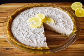 Lemon Tahini Coconut Creme Pie