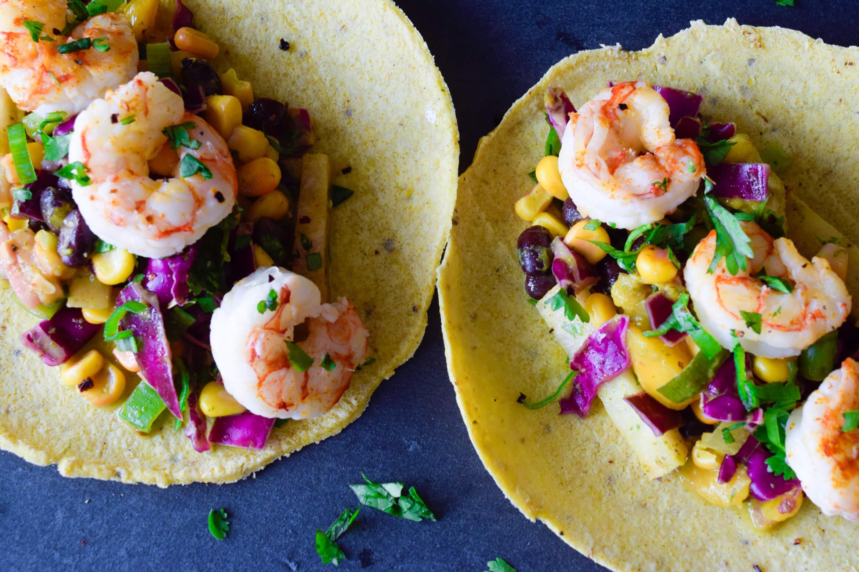 Imperfect Produce Challenge: Shrimp Tacos with Mango Jicama Citrus Slaw